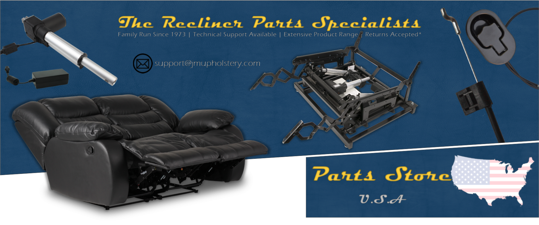 Picture of: The Recliner Parts Specialists Usa Replacement Recliner Handles Cables Handsets Motors Transformers More